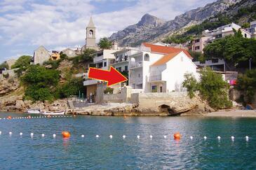 Pisak, Omiš, Objekt 10410 - Ubytování v blízkosti moře s oblázkovou pláží.