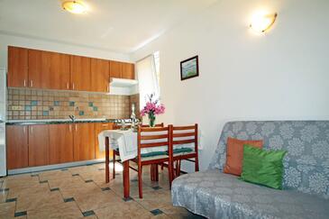 Vinjerac, Salon dans l'hébergement en type apartment, WiFi.