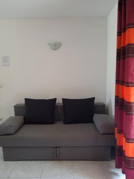 Blaca, Obývacia izba v ubytovacej jednotke apartment, klimatizácia k dispozícii a WiFi.