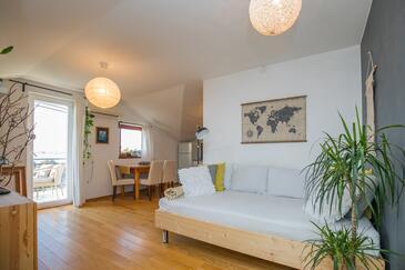 Sukošan, Гостиная в размещении типа apartment, Домашние животные допускаются и WiFi.
