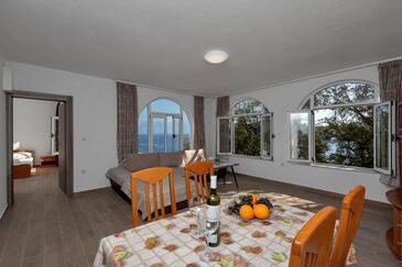 Pokrivenik, Jídelna 1 v ubytování typu apartment, s klimatizací, domácí mazlíčci povoleni a WiFi.