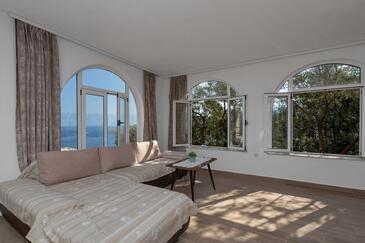 Pokrivenik, Obývací pokoj v ubytování typu apartment, s klimatizací, domácí mazlíčci povoleni a WiFi.