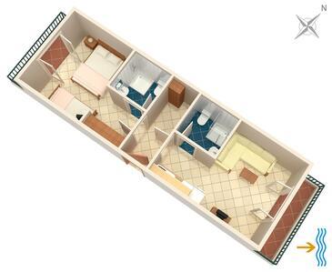 Pokrivenik, Načrt v nastanitvi vrste apartment, Hišni ljubljenčki dovoljeni.