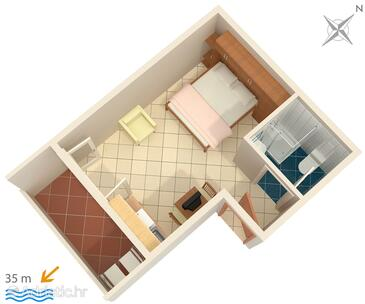 Medići, План в размещении типа studio-apartment, WiFi.