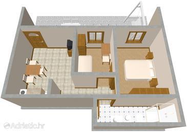 Seget Vranjica, Plan kwatery w zakwaterowaniu typu apartment, zwierzęta domowe są dozwolone i WiFi.