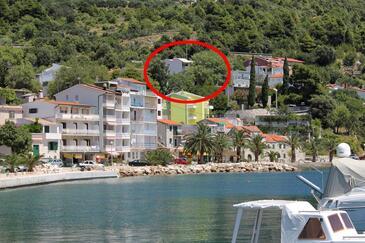 Živogošće - Porat, Makarska, Obiekt 1055 - Apartamenty ze żwirową plażą.