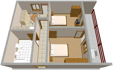 Bušinci, Plan in the apartment, WIFI.