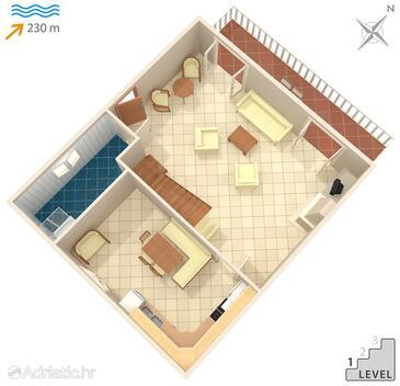 Seget Vranjica, План в размещении типа house, Домашние животные допускаются и WiFi.