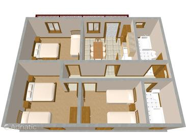 Okrug Gornji, Plan in the apartment.