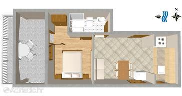 Okrug Gornji, Plan in the apartment.