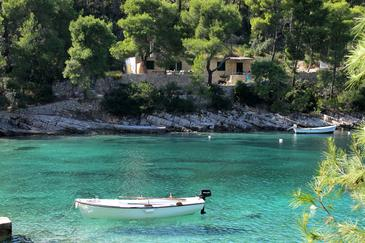 Lozna, Hvar, Property 108 - Apartments near sea with pebble beach.