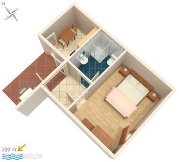 Hvar, Proiect în unitate de cazare tip apartment, WiFi.