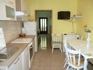 Mali Lošinj, Salle à manger dans l'hébergement en type apartment, animaux acceptés et WiFi.