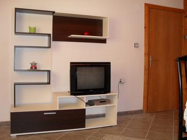 Dinjiška, Living room in the apartment, dopusteni kucni ljubimci i WIFI.