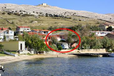 Dinjiška, Pag, Property 11061 - Apartments near sea with pebble beach.