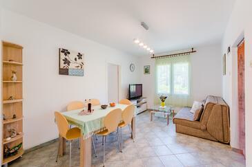 Milna, Pokój dzienny w zakwaterowaniu typu apartment, Dostępna klimatyzacja i WiFi.