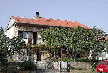 Maslenica, Novigrad, Objekt 11089 - Ubytování s oblázkovou pláží.