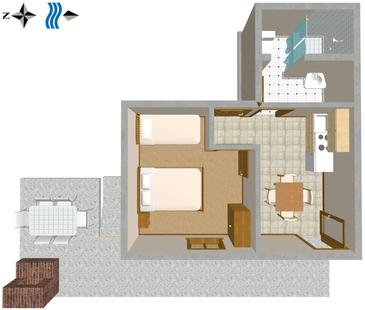 Mavarštica, Plan kwatery w zakwaterowaniu typu apartment, WIFI.