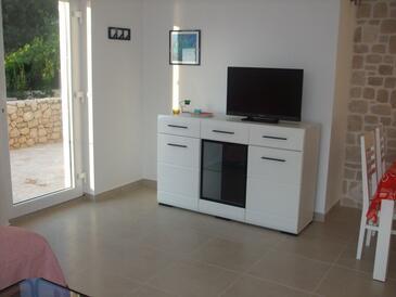 Zatoglav, Living room in the apartment, dostupna klima i WIFI.