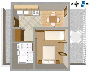Sveta Nedilja, Plan kwatery w zakwaterowaniu typu apartment, zwierzęta domowe są dozwolone i WiFi.