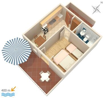 Sveta Nedilja, Plan kwatery w zakwaterowaniu typu apartment, dopusteni kucni ljubimci i WIFI.