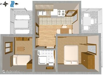 Sveta Nedilja, Plan in the apartment, (pet friendly) and WiFi.