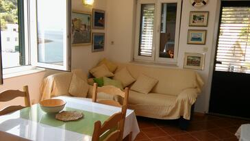 Donja Krušica, Living room in the apartment, air condition available and WiFi.