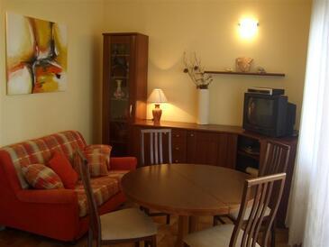 Drage, Living room in the apartment, dopusteni kucni ljubimci i WIFI.