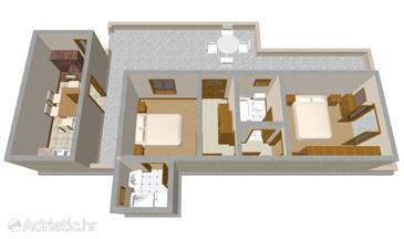 Hvar, Plan in the apartment.