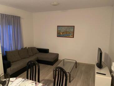Arbanija, Obývací pokoj v ubytování typu apartment, WiFi.