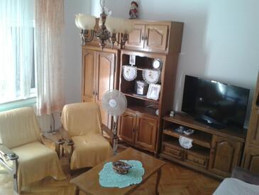 Brodarica, Living room in the apartment, WIFI.