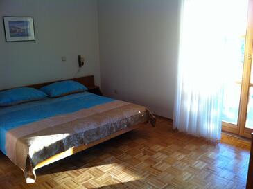 Novigrad, Ložnice v ubytování typu studio-apartment, s klimatizací a WiFi.