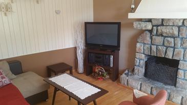 Bribir, Living room in the house, dopusteni kucni ljubimci i WIFI.