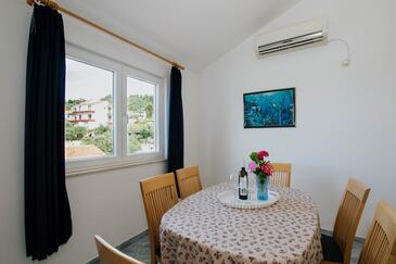 Mastrinka, Jídelna v ubytování typu apartment, s klimatizací a WiFi.