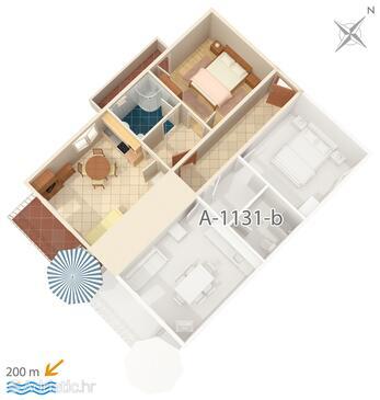 Marušići, План в размещении типа apartment, WiFi.