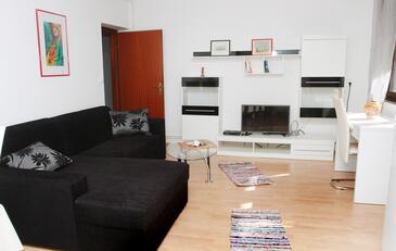 Trogir, Obývacia izba v ubytovacej jednotke apartment, dostupna klima i WIFI.
