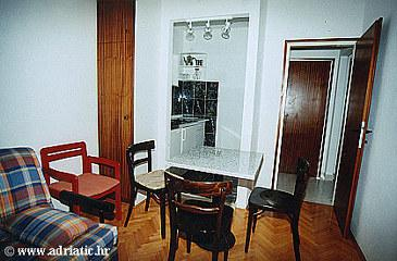 Medići, Living room in the apartment.