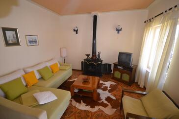 Splitska, Obývací pokoj v ubytování typu apartment, WiFi.