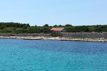 Matuškovica, Pašman, Objekt 11343 - Ubytování v blízkosti moře s kamenitou pláží.