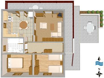 Slatine, Plan in the apartment, WIFI.