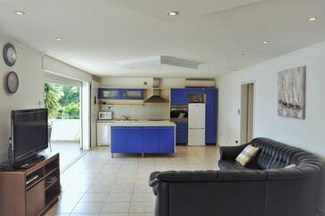 Nova, Obývacia izba v ubytovacej jednotke apartment, domáci miláčikovia povolení a WiFi.