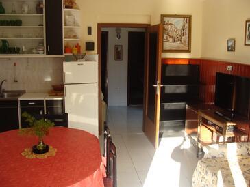 Jadrija, Jídelna v ubytování typu apartment, dostupna klima i WIFI.