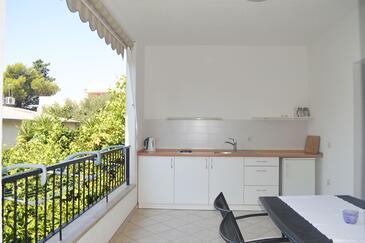Makarska, Kitchen in the apartment, dopusteni kucni ljubimci i WIFI.