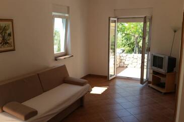 Mandre, Living room in the apartment, dostupna klima i dopusteni kucni ljubimci.