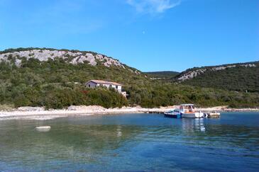 Kobiljak, Pašman, Objekt 11391 - Ubytování v blízkosti moře s kamínkovou pláží.