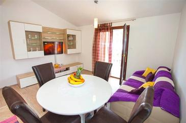 Makarska, Dnevna soba v nastanitvi vrste apartment, dostopna klima in WiFi.