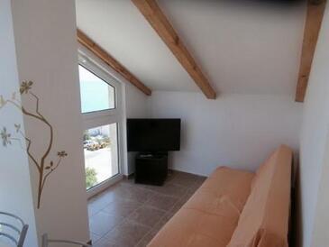 Novi Vinodolski, Obývací pokoj v ubytování typu apartment, dopusteni kucni ljubimci i WIFI.