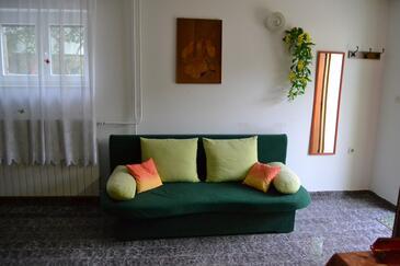 Mali Lošinj, Living room in the studio-apartment, dopusteni kucni ljubimci i WIFI.