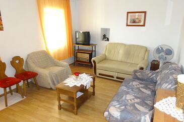 Podstrana, Living room in the house, dopusteni kucni ljubimci.