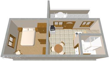 Komiža, Plan in the apartment, WIFI.